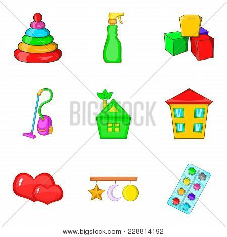 Dirt Icons Set. Cartoon Set Of 9 Dirt Vector Icons For Web Isolated On White Background
