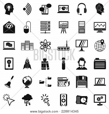 System Access Icons Set. Simple Set Of 36 System Access Vector Icons For Web Isolated On White Backg
