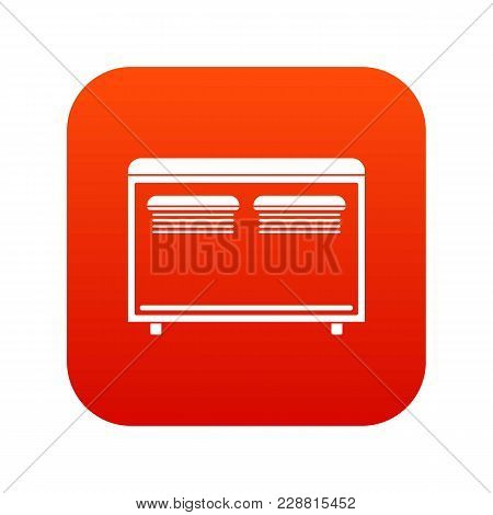 Home Equipment For Heating Icon Digital Red For Any Design Isolated On White Vector Illustration