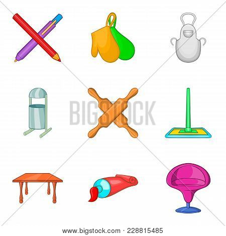 Outpouring Icons Set. Cartoon Set Of 9 Outpouring Vector Icons For Web Isolated On White Background