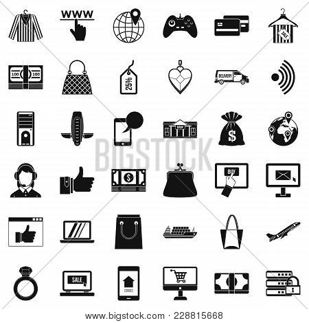Dialog Icons Set. Simple Set Of 36 Dialog Vector Icons For Web Isolated On White Background