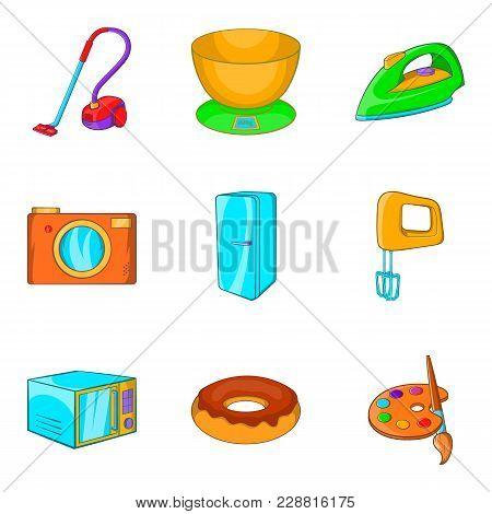 Bathe Icons Set. Cartoon Set Of 9 Bathe Vector Icons For Web Isolated On White Background