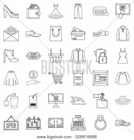 Web Buying Icons Set. Outline Set Of 36 Web Buying Vector Icons For Web Isolated On White Background