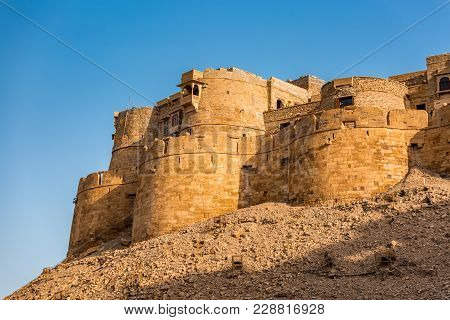 Jaisalmer Fort In Tart Desert Rajastha, India.
