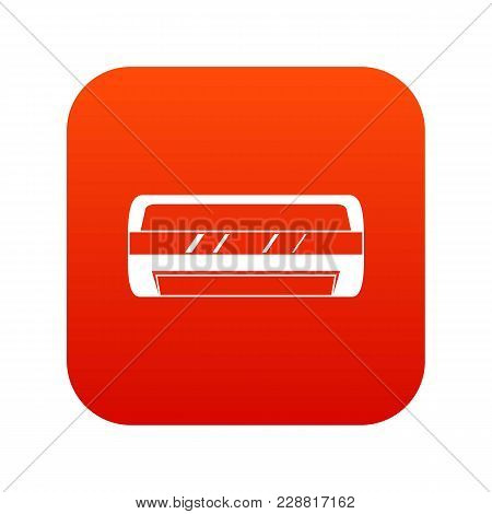 Conditioning Split System Icon Digital Red For Any Design Isolated On White Vector Illustration