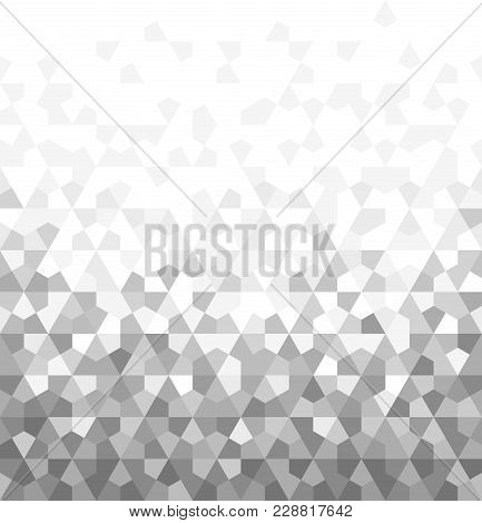 Abstract Geometric Pattern. Vector Background. White And Grey Ornament. Graphic Modern Pattern