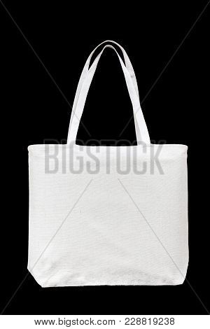 Tote Bag Canvas White Cotton Fabric Cloth For Shoulder Eco Shopping Sack Mockup Blank Template Isola