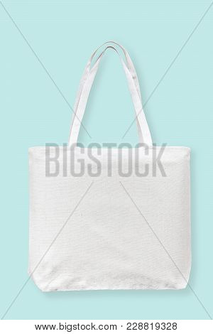Tote Bag Canvas White Cotton Fabric Cloth For Eco Shoulder Shopping Sack Mockup Blank Template Isola