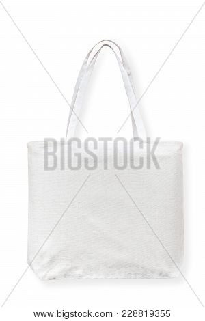 Tote Bag Canvas Cotton Fabric Cloth For Eco Shopping Sack Mockup Blank Template Isolated On White Ba