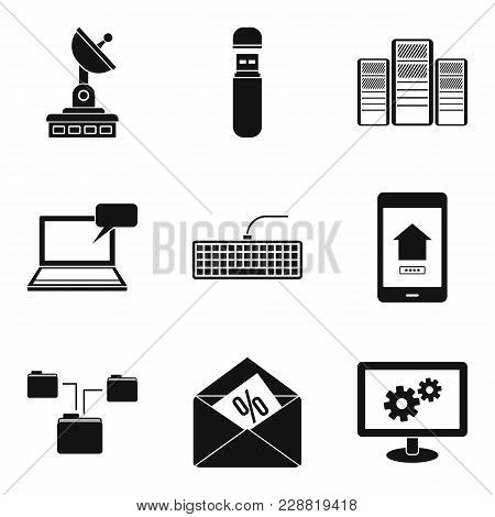 Telecom Icons Set. Simple Set Of 9 Telecom Vector Icons For Web Isolated On White Background