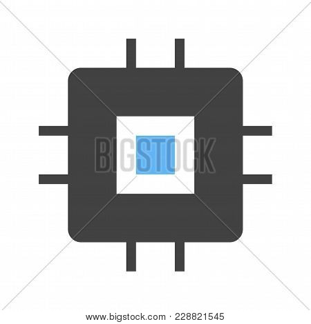 Chip, Ic, Circuit Icon Vector Image. Can Also Be Used For Computer Hardware, Computer Network And Co