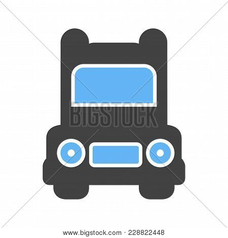 Truck, Road, Transportation Icon Image. Can Also Be Used For Transport, Transportation And Travel. S