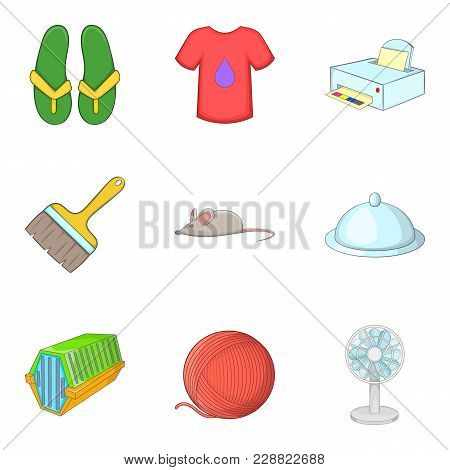 Brilliant Cleaning Icons Set. Cartoon Set Of 9 Brilliant Cleaning Vector Icons For Web Isolated On W