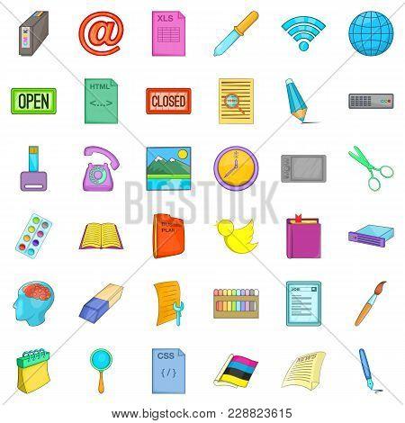 Linkage Icons Set. Cartoon Set Of 36 Linkage Vector Icons For Web Isolated On White Background