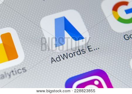 Sankt-petersburg, Russia, February 28, 2018: Google Adwords Express Application Icon On Apple Iphone