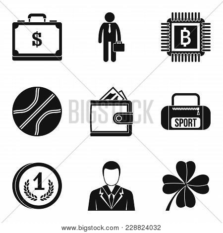 Sport Fee Icons Set. Simple Set Of 9 Sport Fee Vector Icons For Web Isolated On White Background