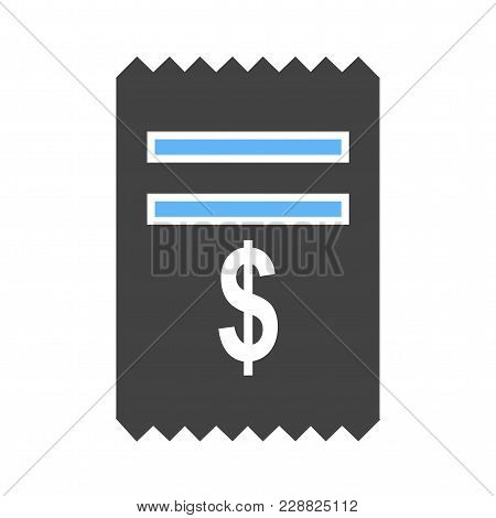 Dollar, Cash, Receipt, Icon Vector Image. Can Also Be Used For Banking, Finance, Business. Suitable