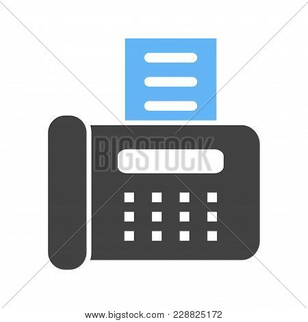 Fax Machine, Reciept, Telephone, Icon Vector Image. Can Also Be Used For Banking, Finance, Business.
