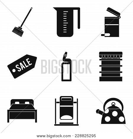 Domestic Personnel Icons Set. Simple Set Of 9 Domestic Personnel Vector Icons For Web Isolated On Wh