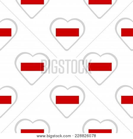 Seamless Pattern From The Hearts With The Flag Of  Sharjah And Ras-al-khaimah. Vector Illustration