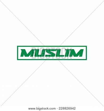 Muslim Roadsign, Vector Template On White Background.
