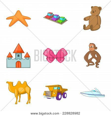 Rattle Icons Set. Cartoon Set Of 9 Rattle Vector Icons For Web Isolated On White Background