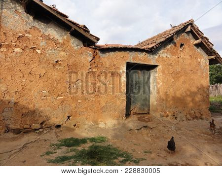 An Old Abandoned (given Up) House, In Ruin, Ruined. There Is Neither Door, Nor Window. The Time Is B