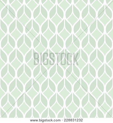 Abstract Geometric Pattern With Lines. A Seamless Vector Background. Graphic Green And White Pattern