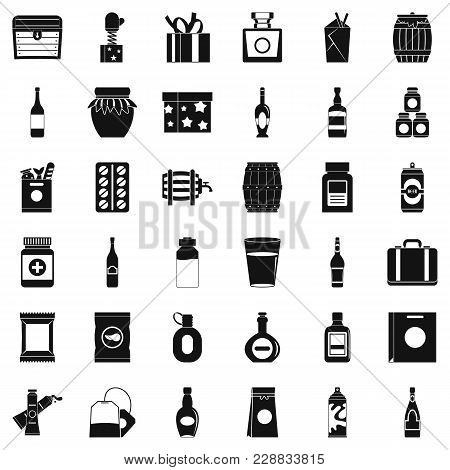 Housing Stock Icons Set. Simple Set Of 36 Housing Stock Vector Icons For Web Isolated On White Backg