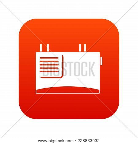Wall Router Icon Digital Red For Any Design Isolated On White Vector Illustration