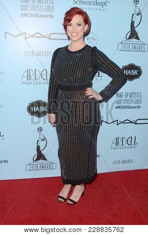 LOS ANGELES - FEB 24:  Anna Rose Kern at the 2018 Make-Up Artists and Hair Stylists Awards at the Novo Theater on February 24, 2018 in Los Angeles, CA