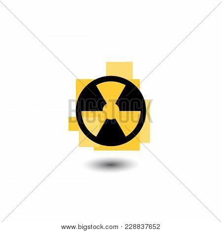 The Radiation Icon. Radiation Symbol. Vector Illustration. Flat Design
