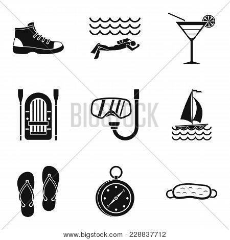 Sport Competition Icons Set. Simple Set Of 9 Sport Competition Vector Icons For Web Isolated On Whit