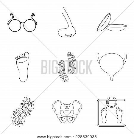 Public Health Icons Set. Outline Set Of 9 Public Health Vector Icons For Web Isolated On White Backg