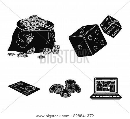 Excitement, Recreation, Hobby And Other  Icon In Black Style.casino, Institution, Entertainment, Ico