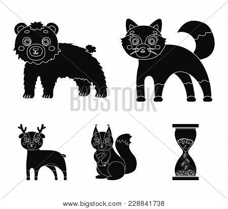 Zoo, Nature, Reserve And Other  Icon In Black Style.artiodactyl, Nature, Ecology, Icons In Set Colle