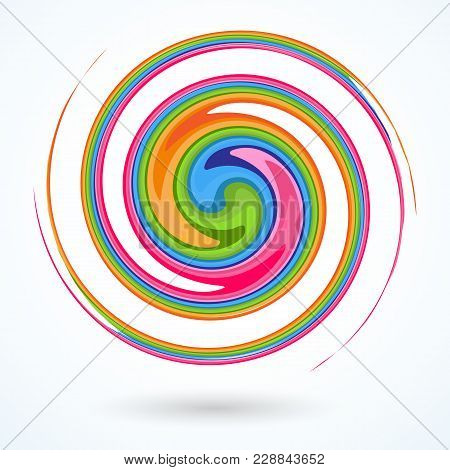 Colorful Spiral Bright Abstract Circular Rotating Spiral A Pattern Of Twisted Colored Lines For Desi