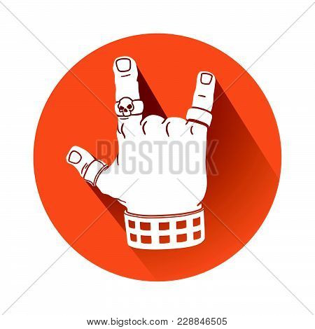 This Is An Illustration Of A Hand In Rock Gesture