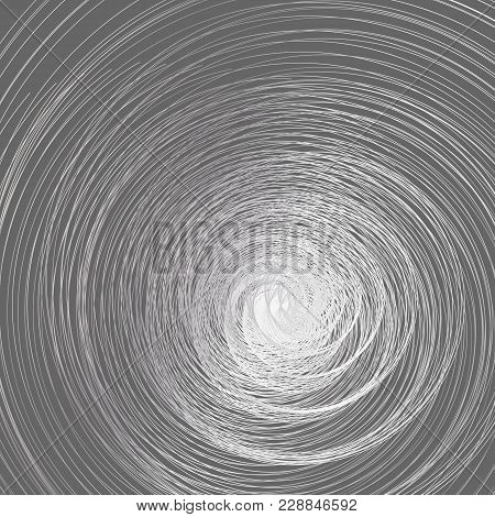 Abstract Background A Whirlwind Of Twisted Spiral Metal Lines Spiral Contour Whirlpool Twist On A Gr