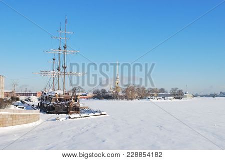 Russia. Saint-petersburg In A Sunny Cold Winter Day