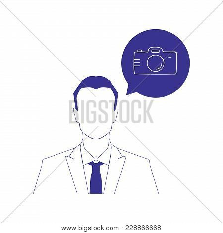Person And Foto Camera Icons, Vector Illustration