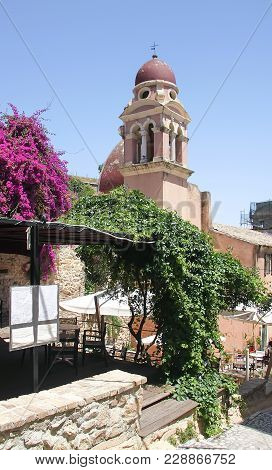 Old Monastery Franciscan Order Of The Virgin Mary Of Tenedos On The Island Of Corfu. Greece