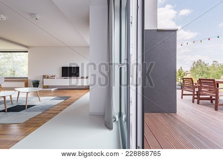 Room With Entrance To Patio