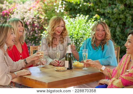 friendship, group of women celebrating friends
