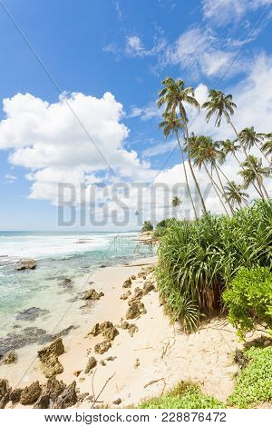 Koggala Beach, Sri Lanka, Asia - Feeling Free While Relaxing At The Lovely Landscape Of Koggala Beac