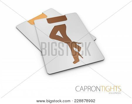 Shiny Tights With Sparkles. Fashion Model 3d Illustration.