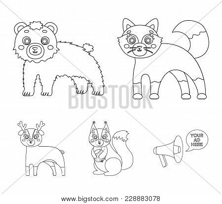Zoo, Nature, Reserve And Other  Icon In Outline Style.artiodactyl, Nature, Ecology, Icons In Set Col