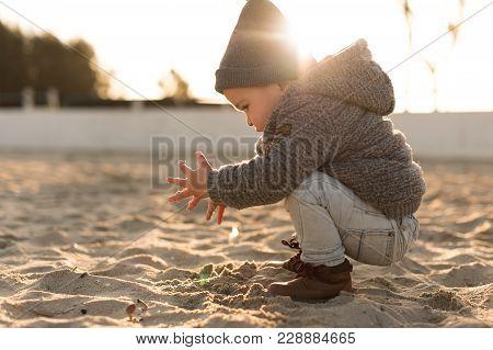 Toddler Exploring Nature