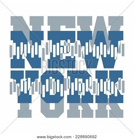 T-shirt  New York, Sport Design, New York Fashion, Typography, Graphics, Stylish Printing Design For