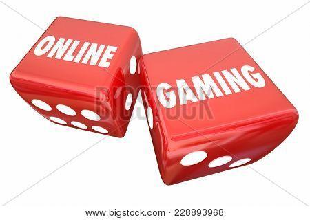 Online Gaming Dice Rolling Gambling Website 3d Illustration